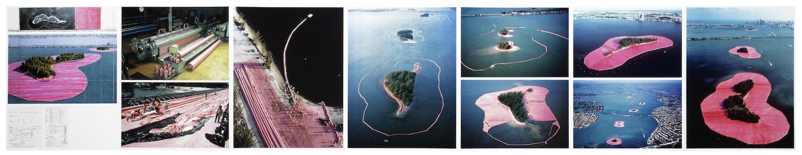 Christo and Jeanne-Claude-Surrounded Islands, Biscayne Bay, Greater Miami, Florida 1980-1983-2009