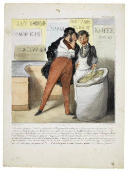 Honore Daumier-Caricaturana (Les Robert Macaire); Croquis d'Expressions (Delteil 366,368,382,383,397,424,441,450,474,495,498,503,510,515,516,519)