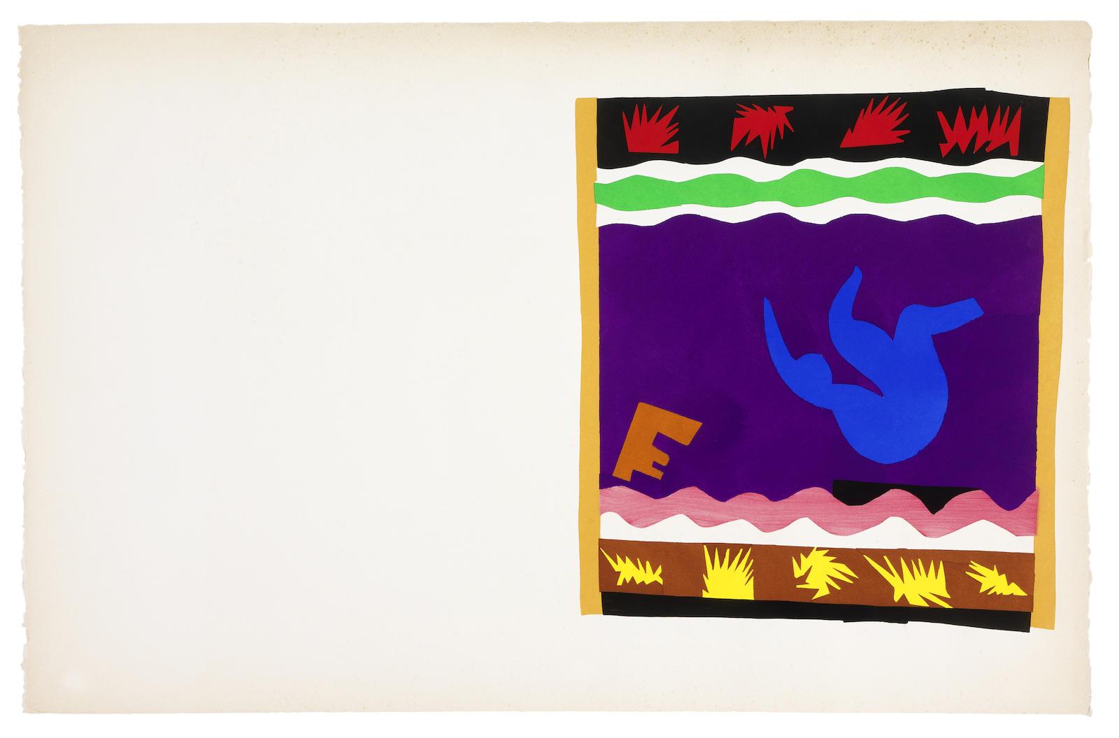 Henri Matisse-Le Tobogan,from Jazz-1947