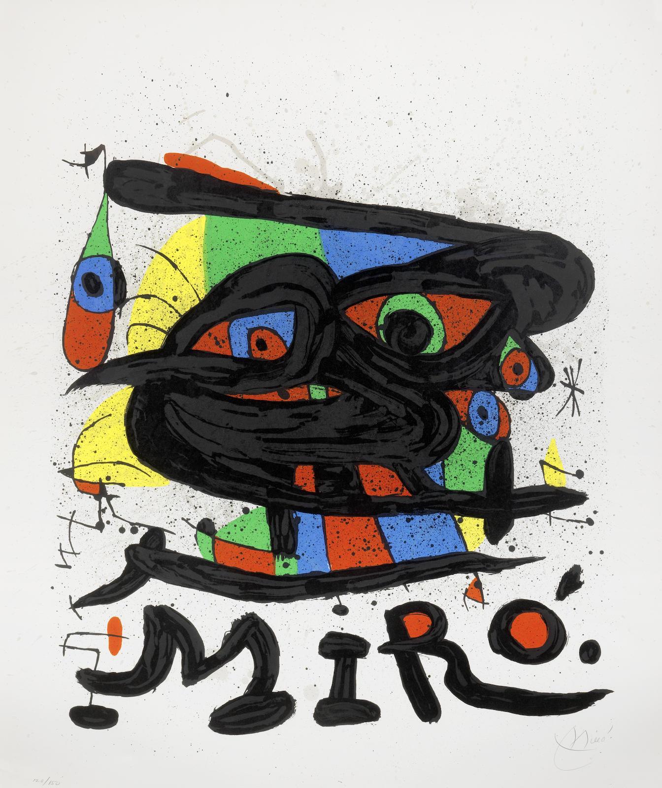 Joan Miro-Poster for the exhibition Miro Sculptures-1971