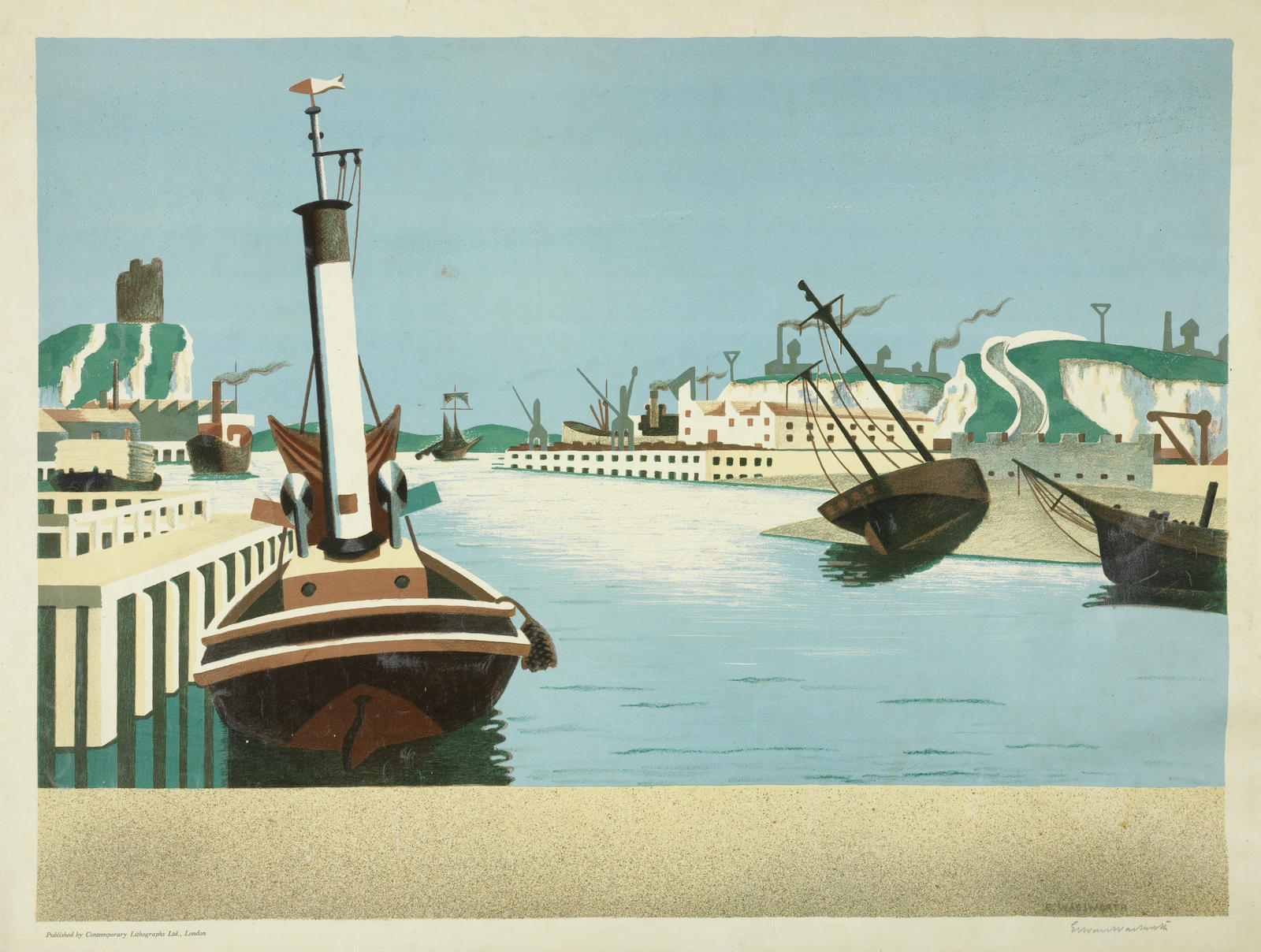 Edward Wadsworth-Imaginary Harbour-1938