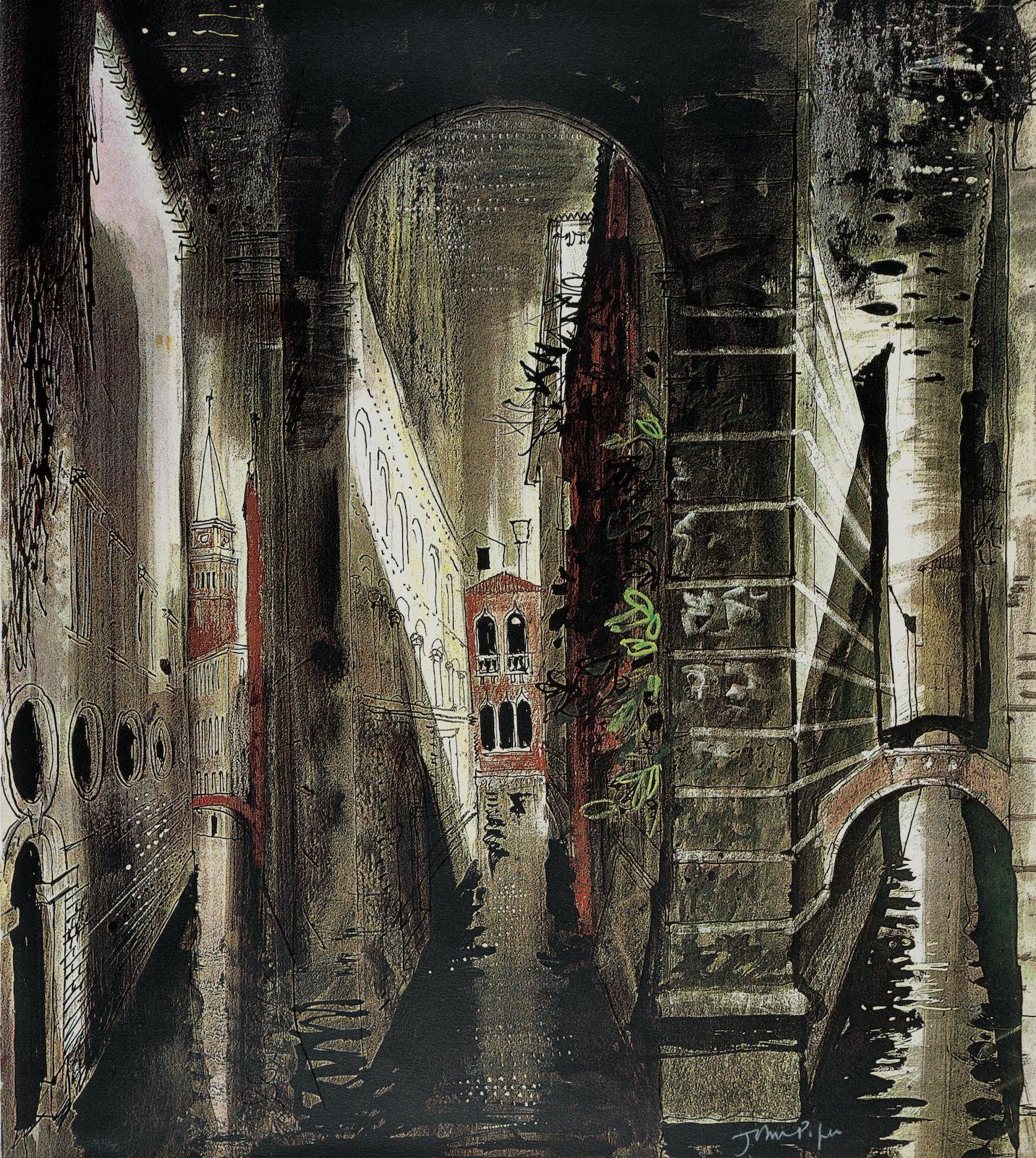 John Piper-Death in Venice folio-1973