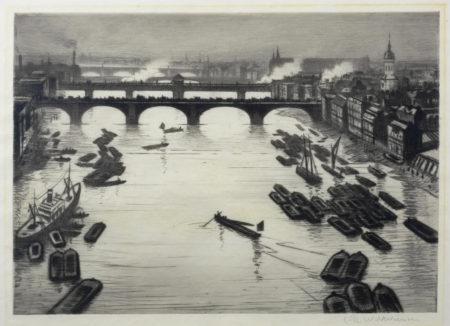 Christopher R. W. Nevinson-London Bridges-1920