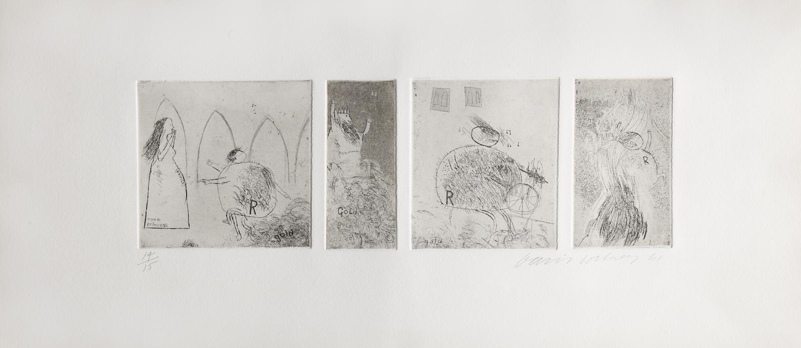 David Hockney-Study for Rumpelstiltskin-1961