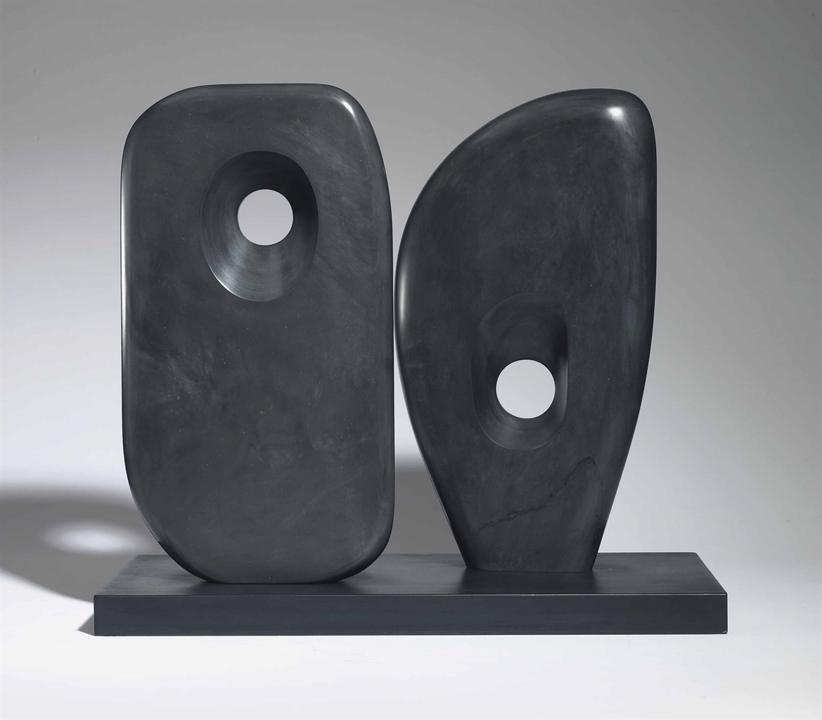 Barbara Hepworth-Two Forms in Echelon-1963