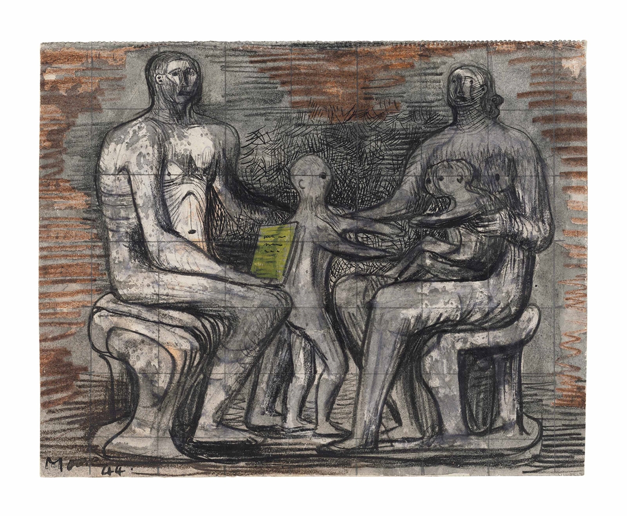Henry Moore-Family Groups-1944