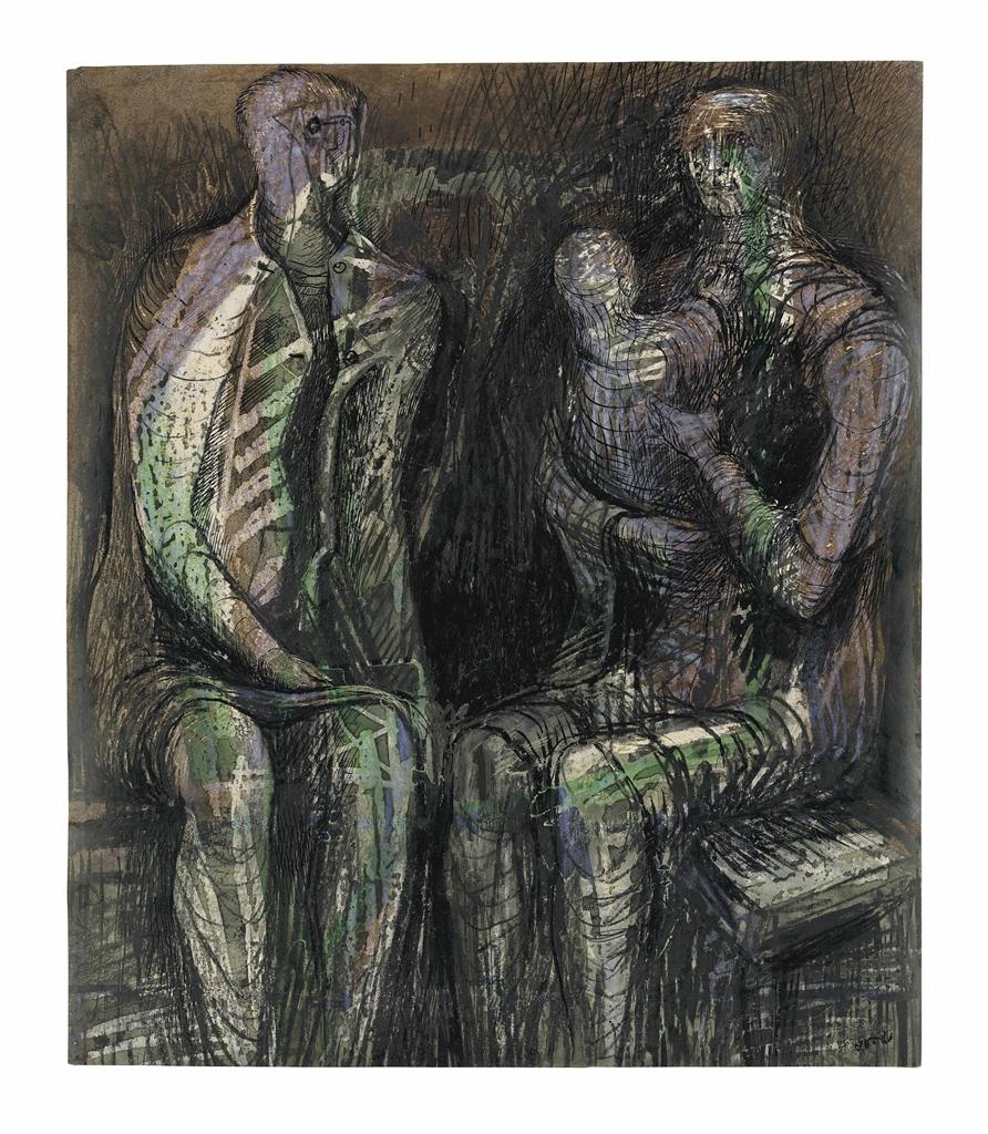 Henry Moore-Shelterers-1941