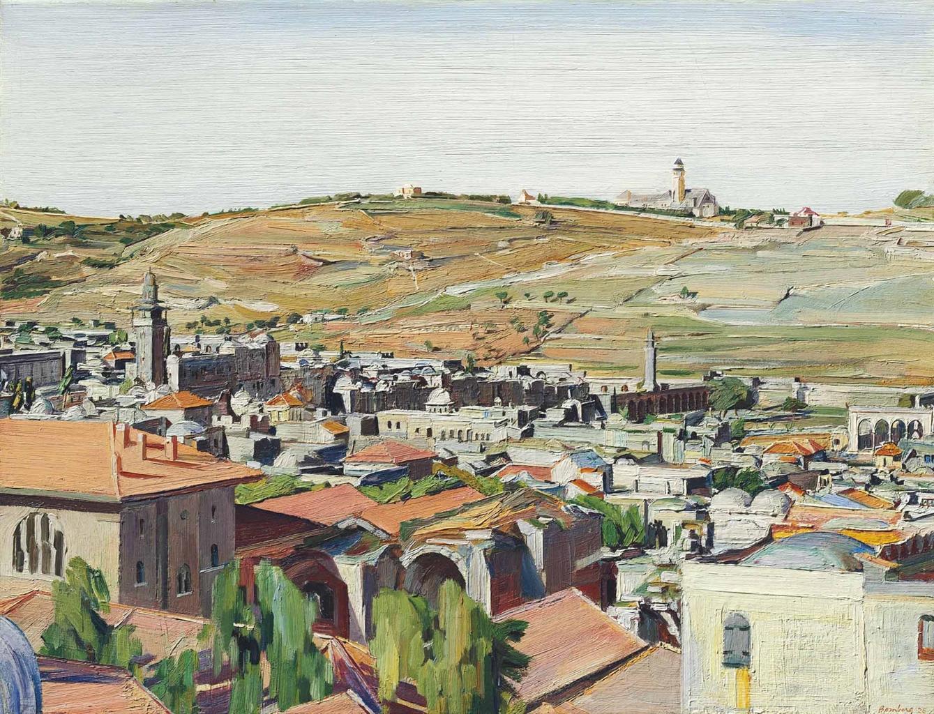 David Bomberg-Jerusalem from the Mount of Olives-1925
