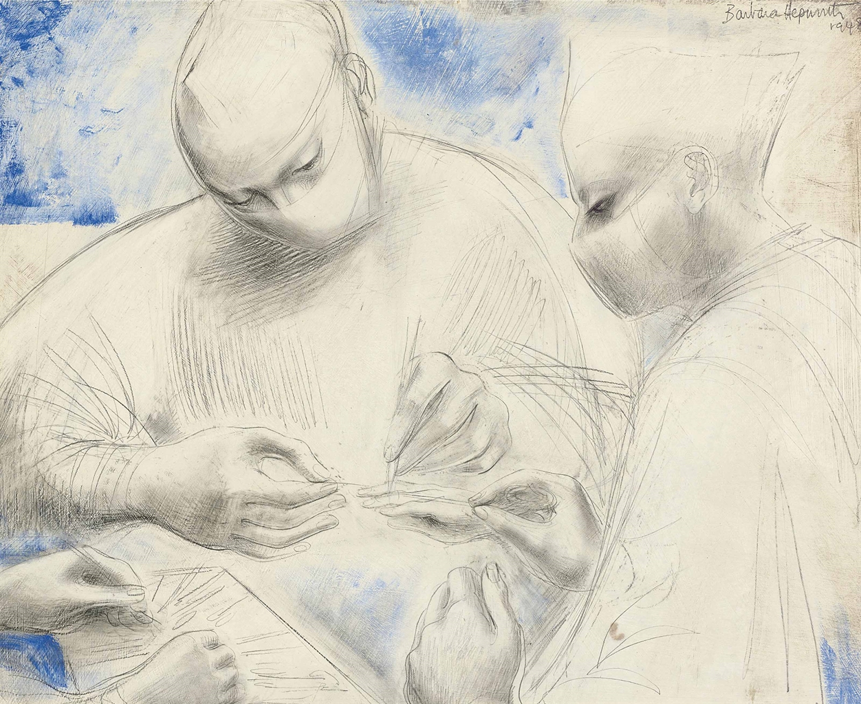 Barbara Hepworth-Trio (Tendon Transplant)-1948