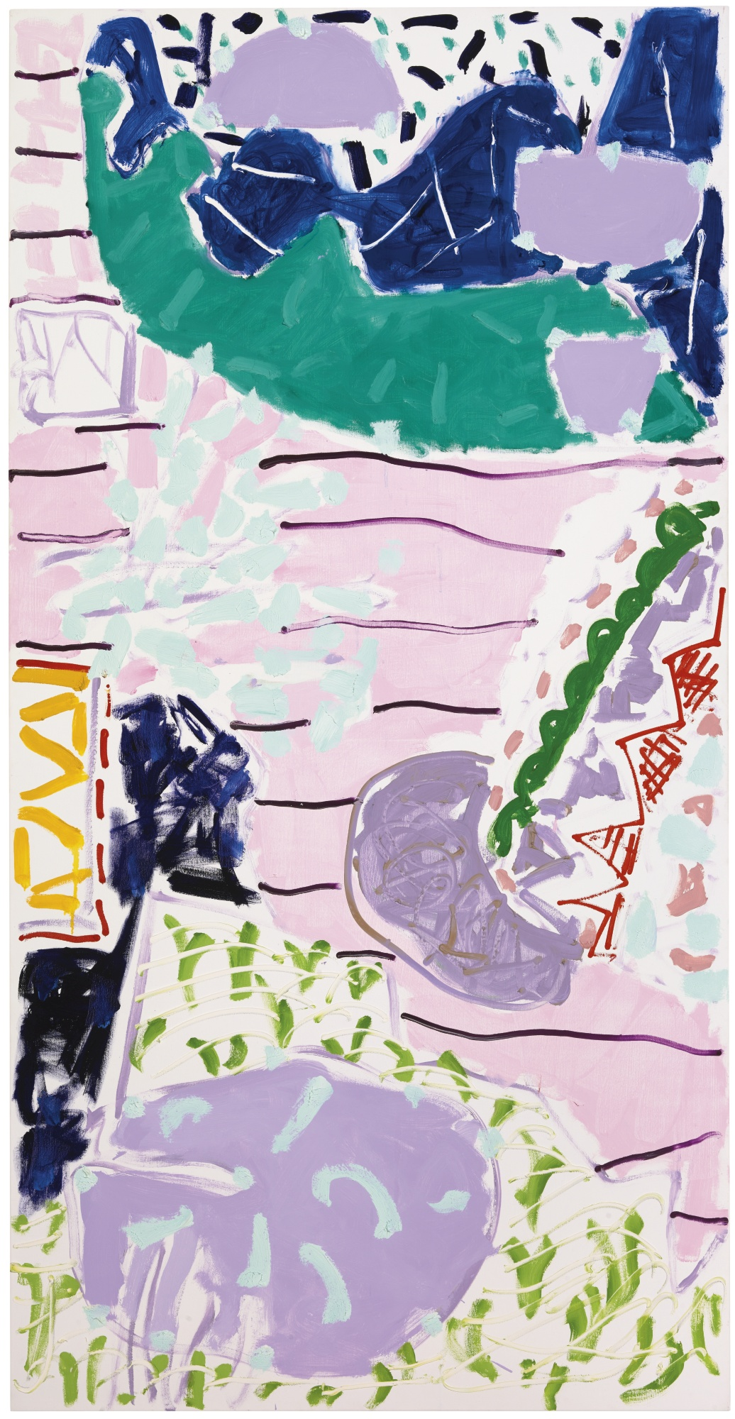 Patrick Heron-Sydney Garden Painting: February 1990: I-1990