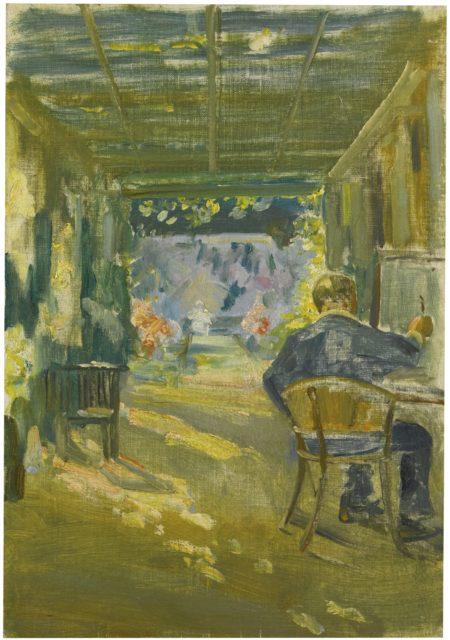 Winston Churchill-Under The Loggia At Chartwell-1927