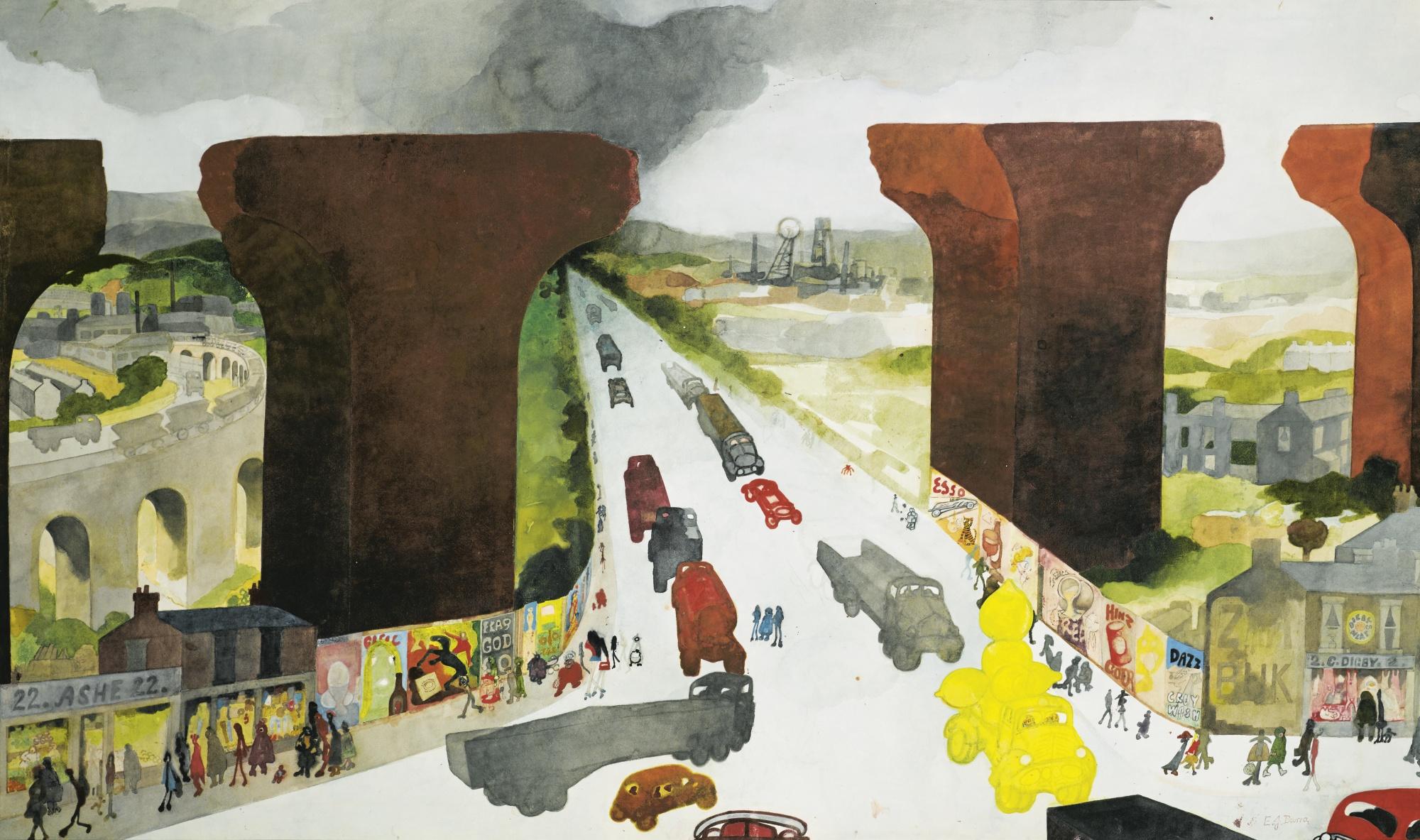 Edward Burra-The Old Viaduct-1970