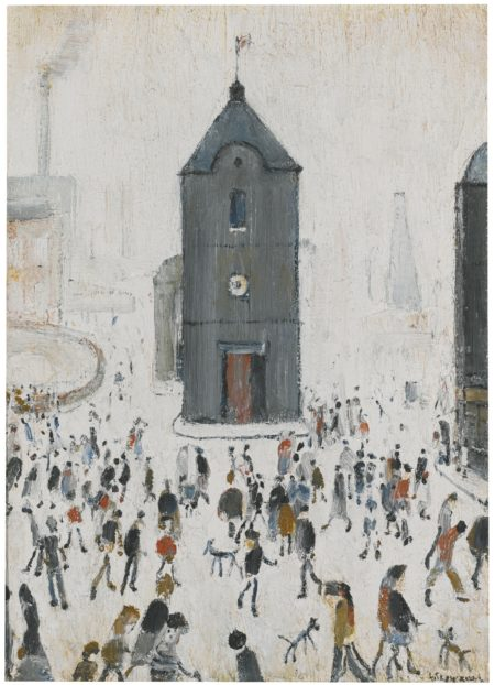 Laurence Stephen Lowry-The Black Church-