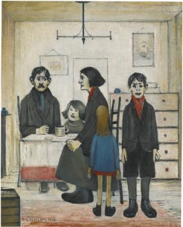 Laurence Stephen Lowry-Family Group-1938