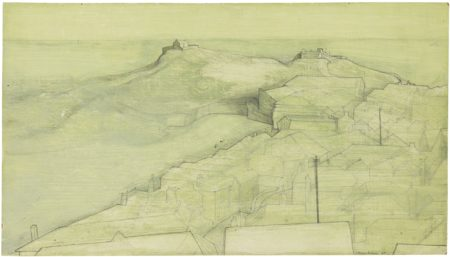 Wilhelmina Barns-Graham-St. Ives, The Island, From Barnoon-1951