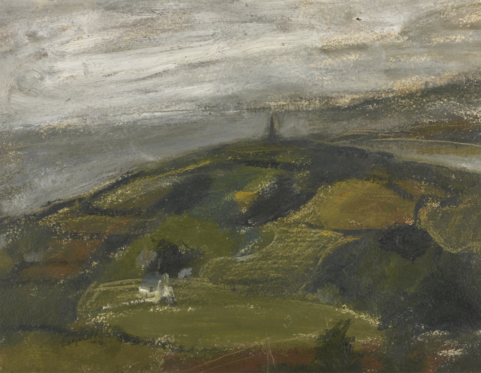 Peter Lanyon-Cornish Landscape With Knill'S Monument In The Distance-1944