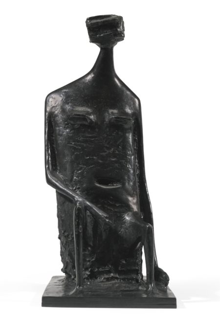 Kenneth Armitage-Seated Woman With Square Head (Version A)-1985