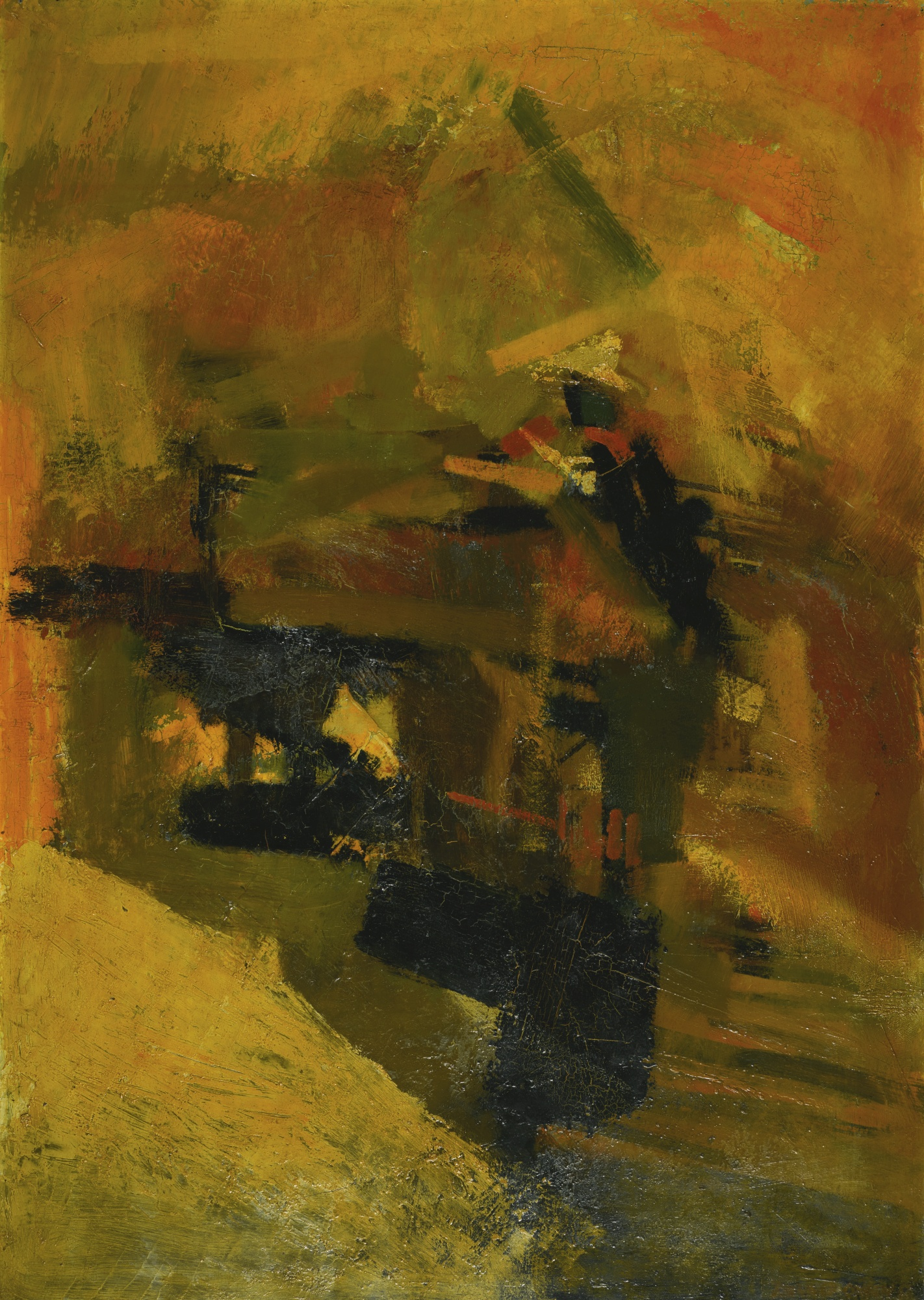 Bernard Cohen-Interior With Forms-1957