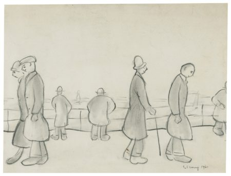 Laurence Stephen Lowry-Man By The Sea-1961
