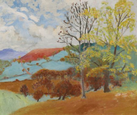 Winifred Nicholson-Landscape With Red Mountain-1935