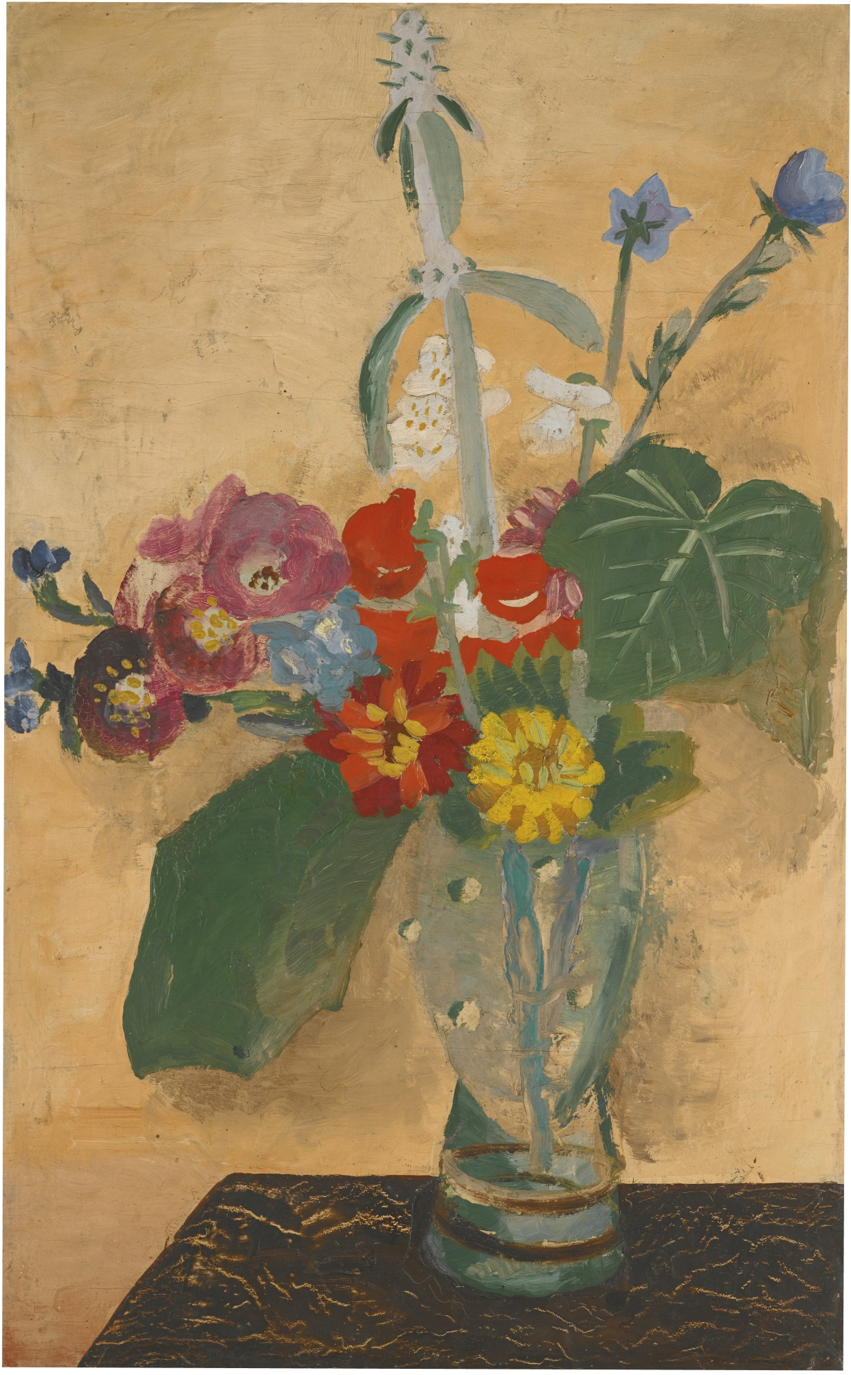 Winifred Nicholson-Summer Flowers In A Glass Vase-