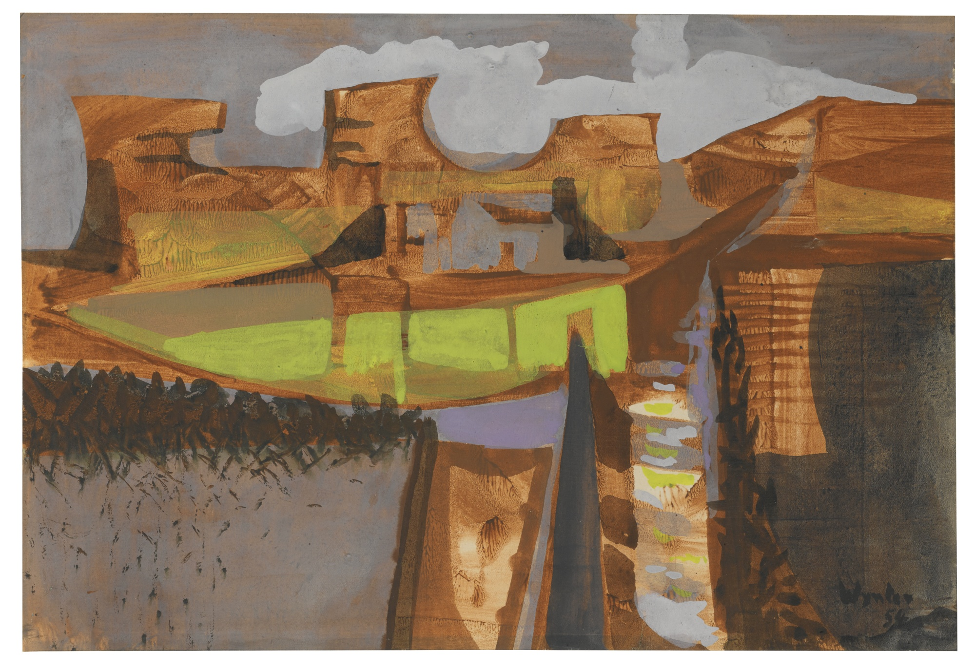 Bryan Wynter-Carn, Zennor-1954