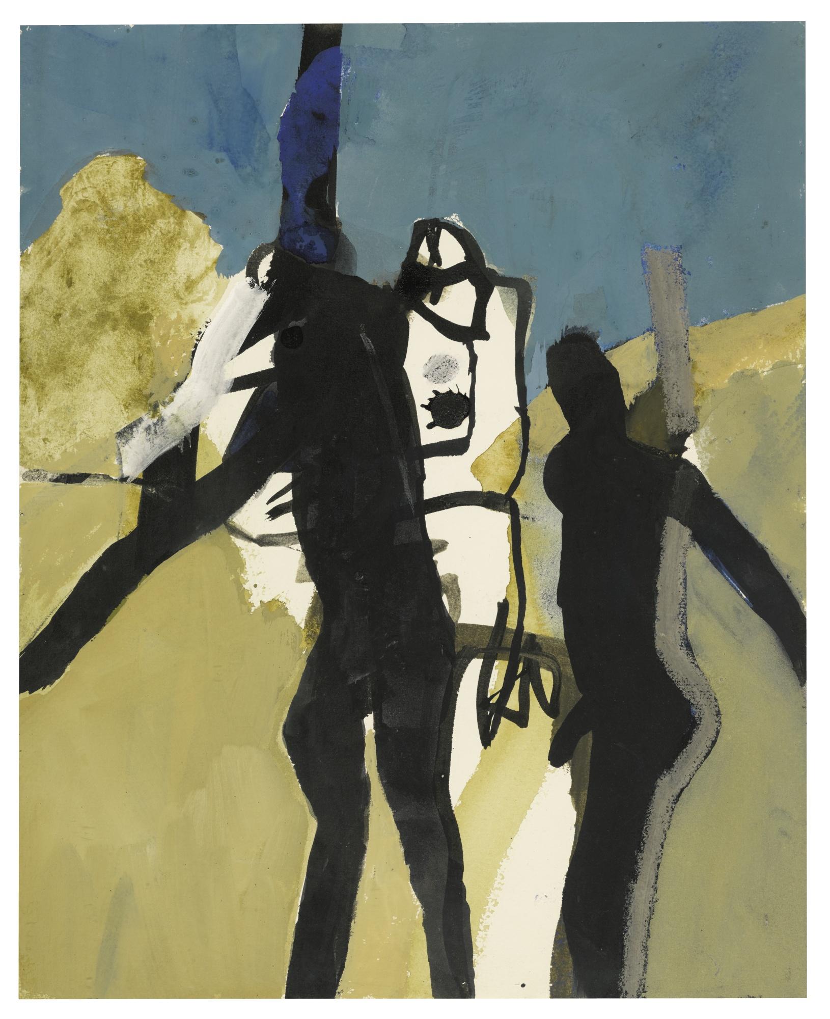 Keith Vaughan-Standing Figure II-