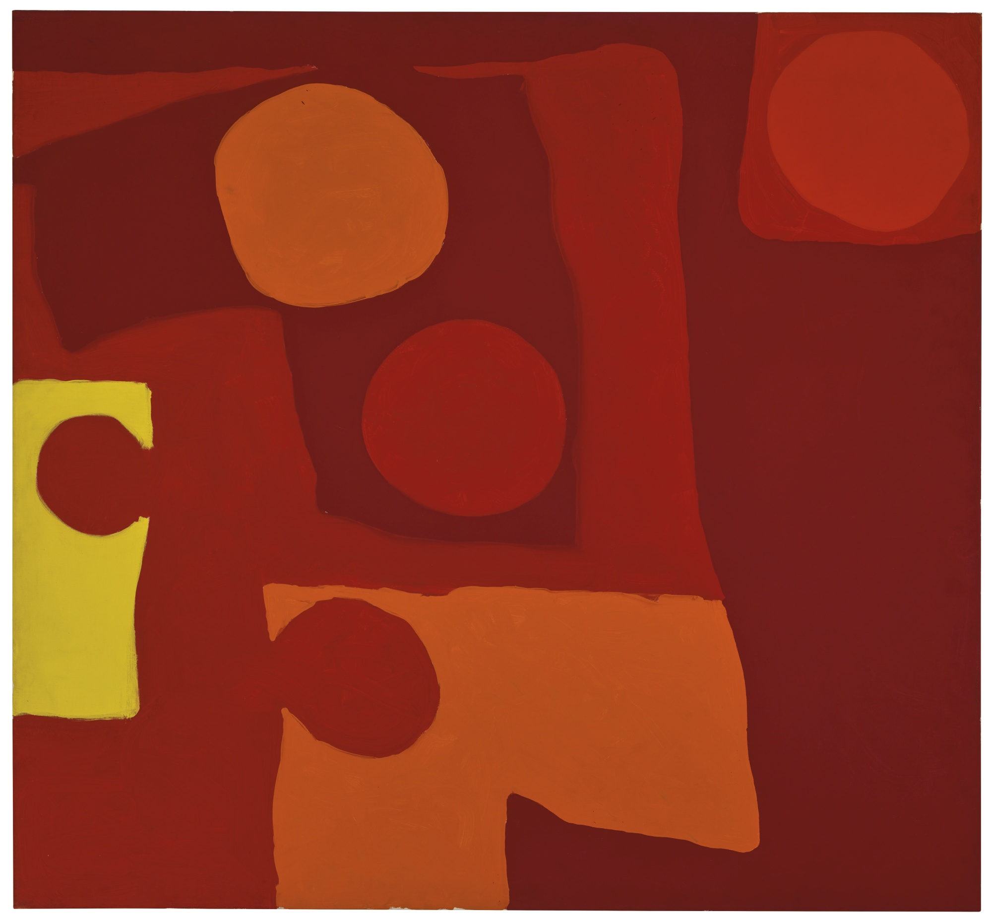 Patrick Heron-Complicated Reds (Five Discs): March 1965-1965