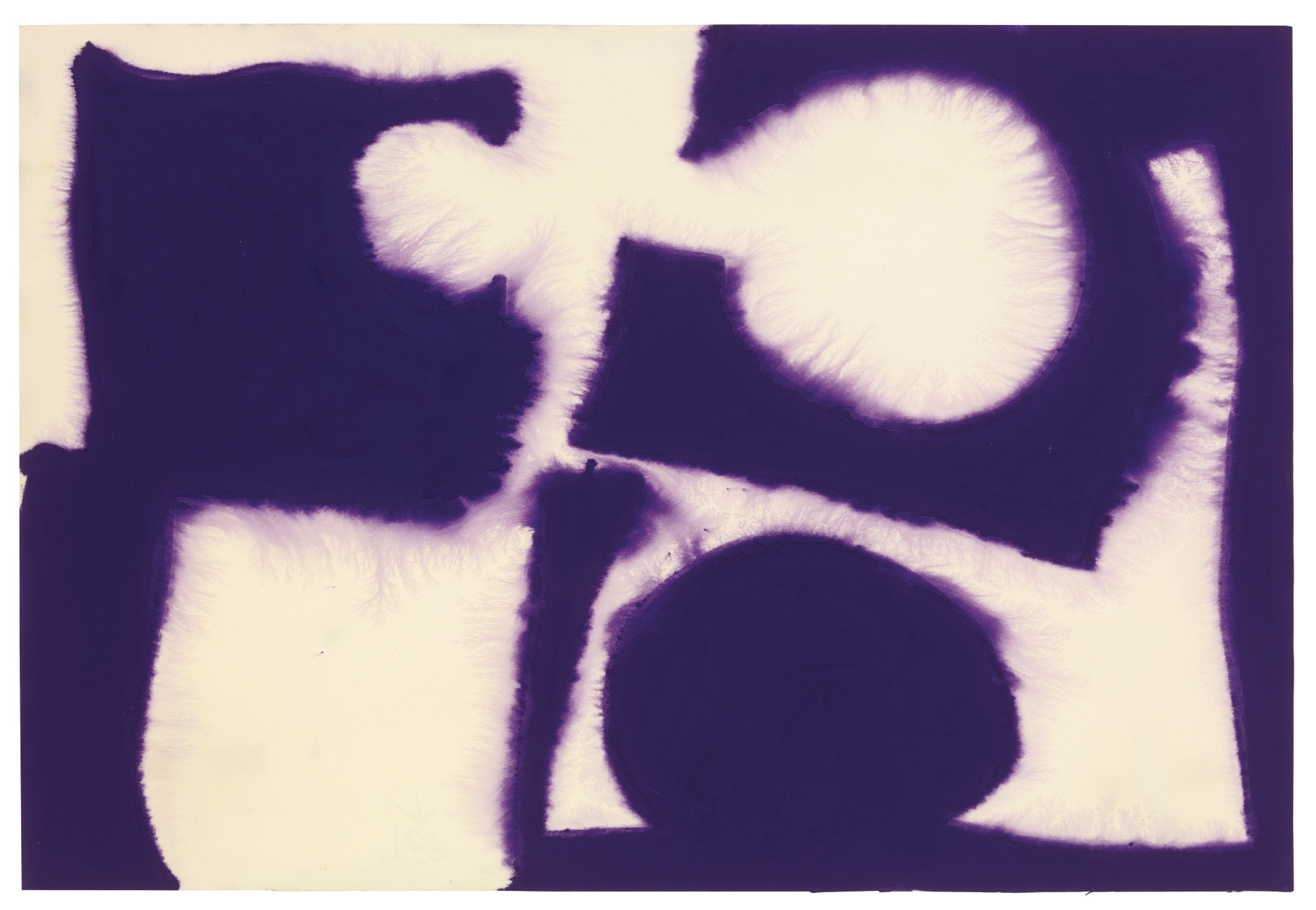 Patrick Heron-Dull Violet Flooding White: December 1966-1966