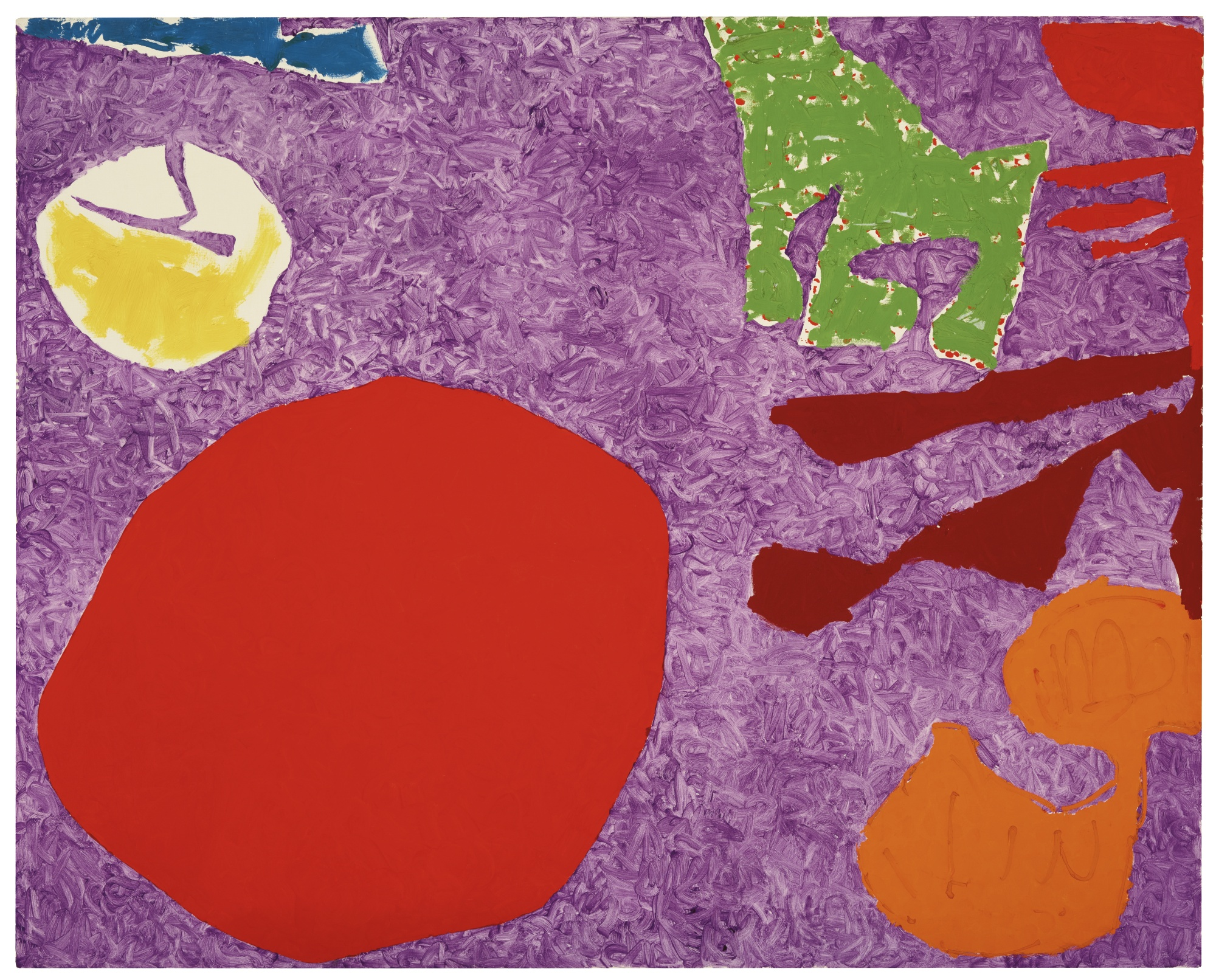 Patrick Heron-Scarlet Disc In Rough Violet: December 1982-1982