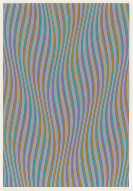 Bridget Riley-Twisted Curve in Single Reverse-1979