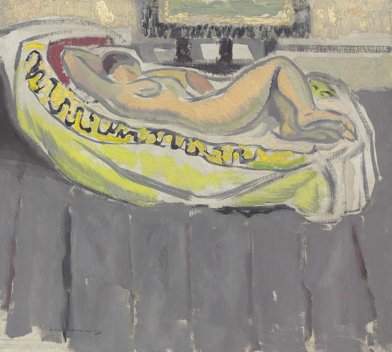 Ivon Hitchens-Reclining Nude-1928