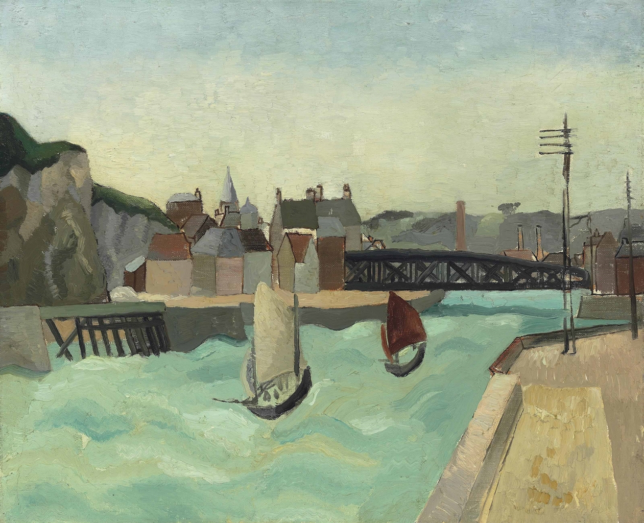 Christopher Wood-Harbour Entrance, Dieppe-1929