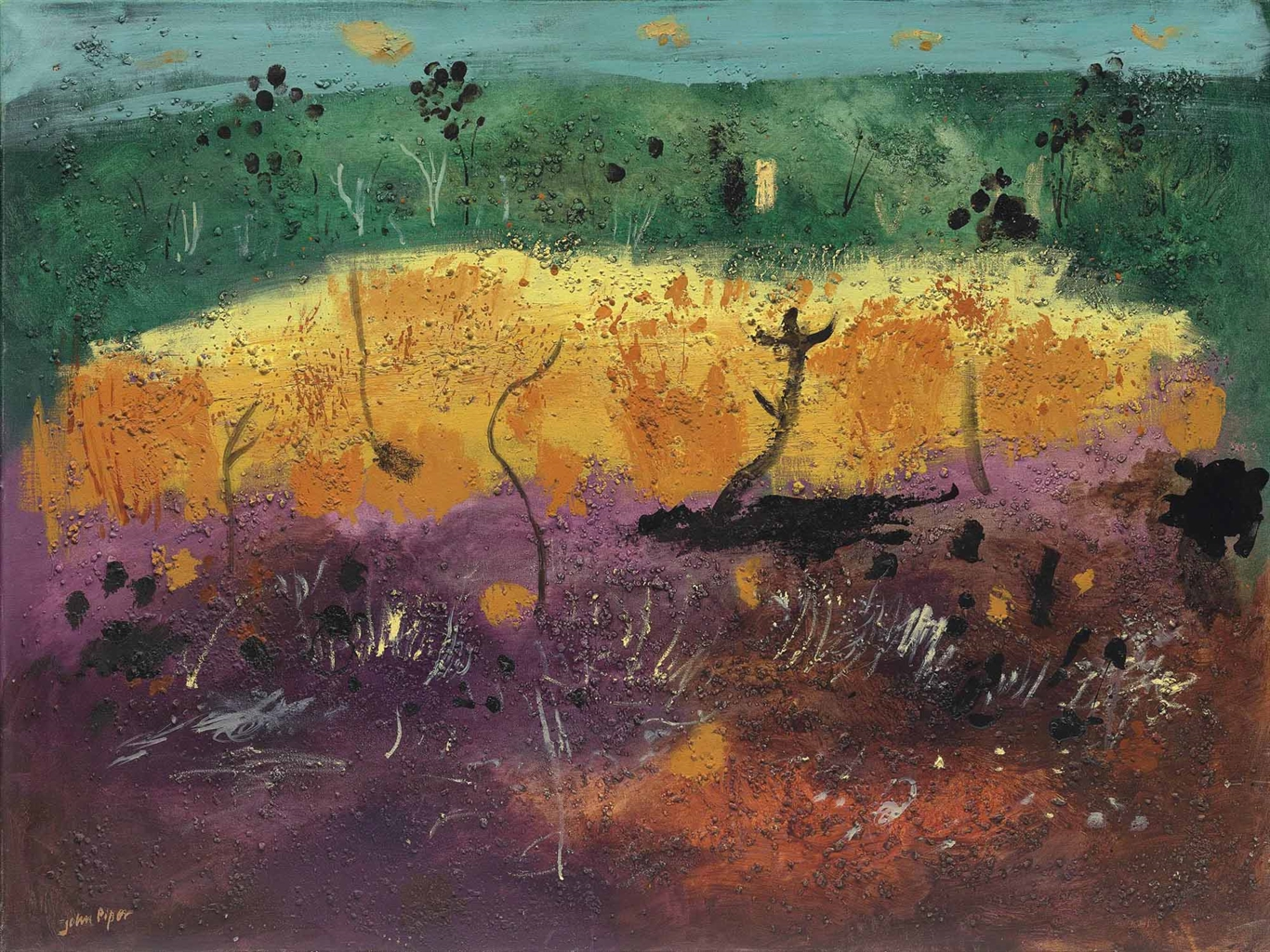 John Piper-Withy bed, Earl Stonham-1975