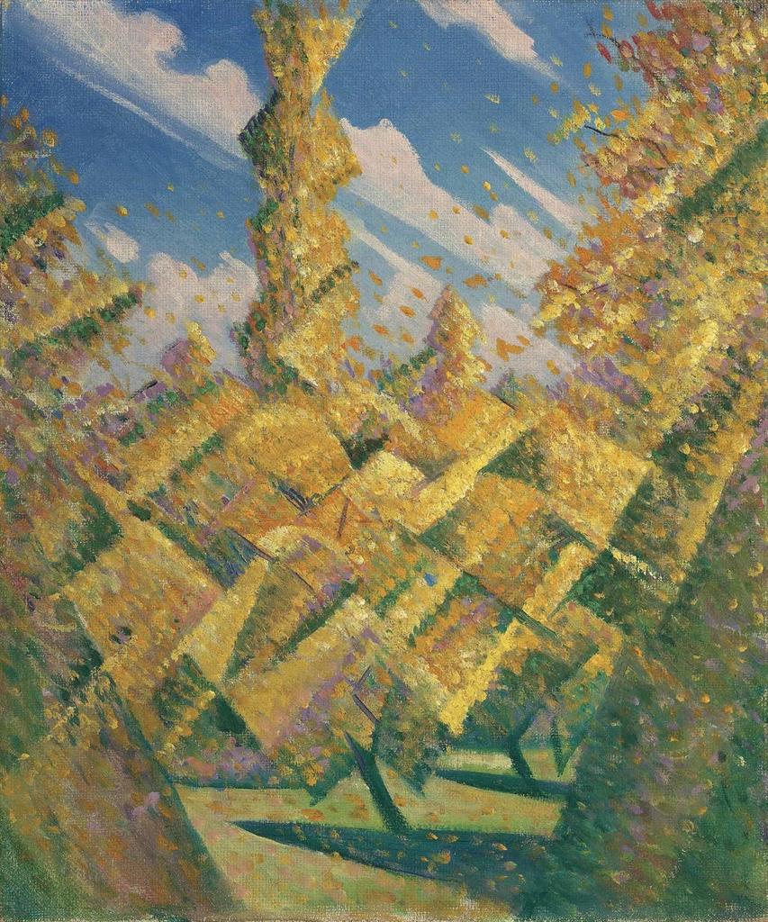 Christopher R. W. Nevinson-The Four Seasons: Autumn-1919
