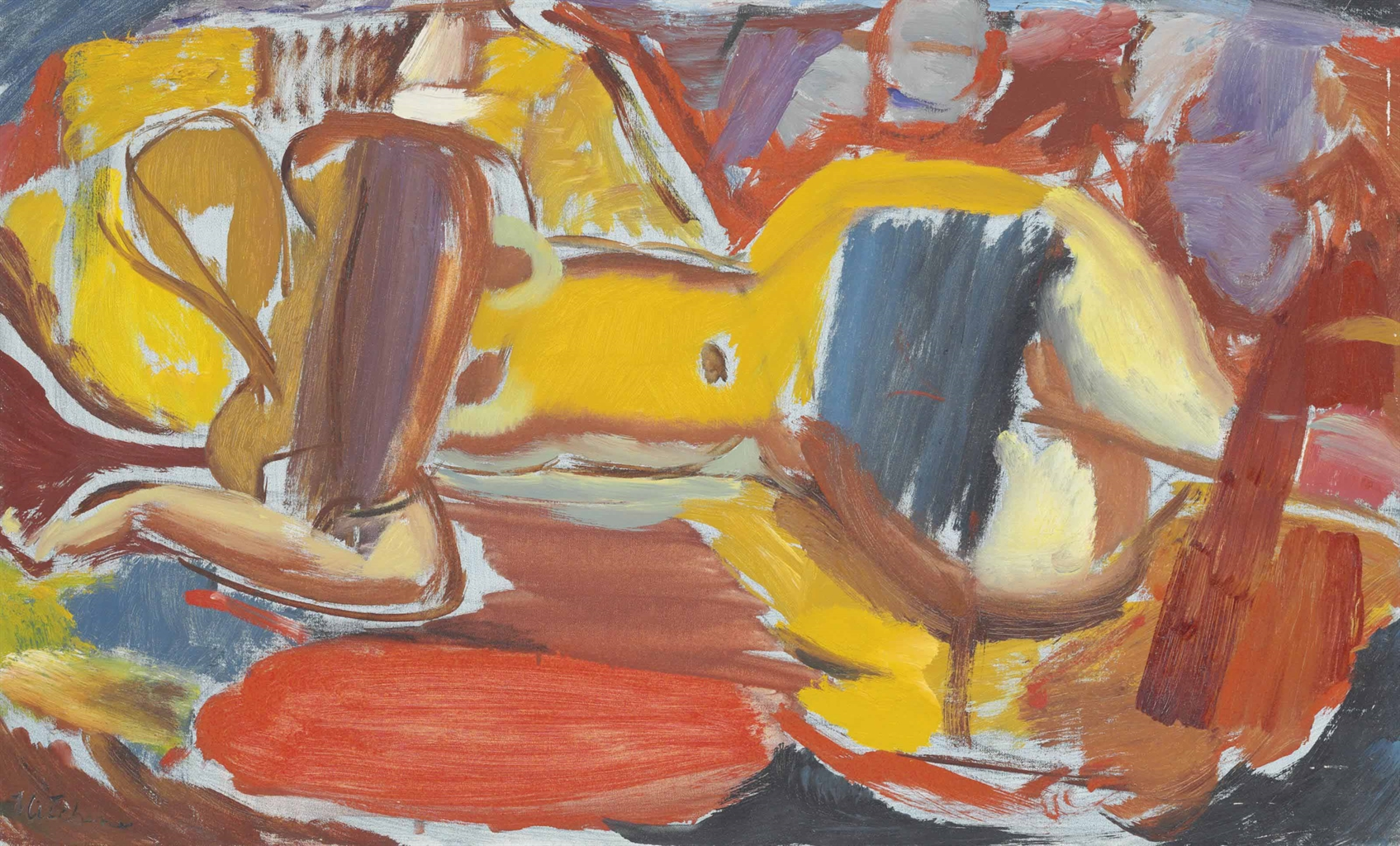 Ivon Hitchens-Resting Nude-1950