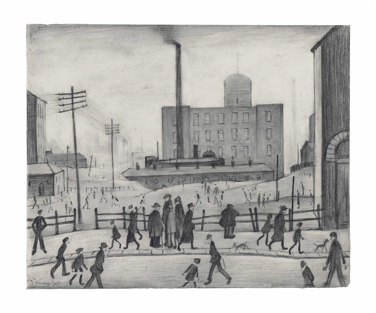 Laurence Stephen Lowry-Industrial Scene-1951