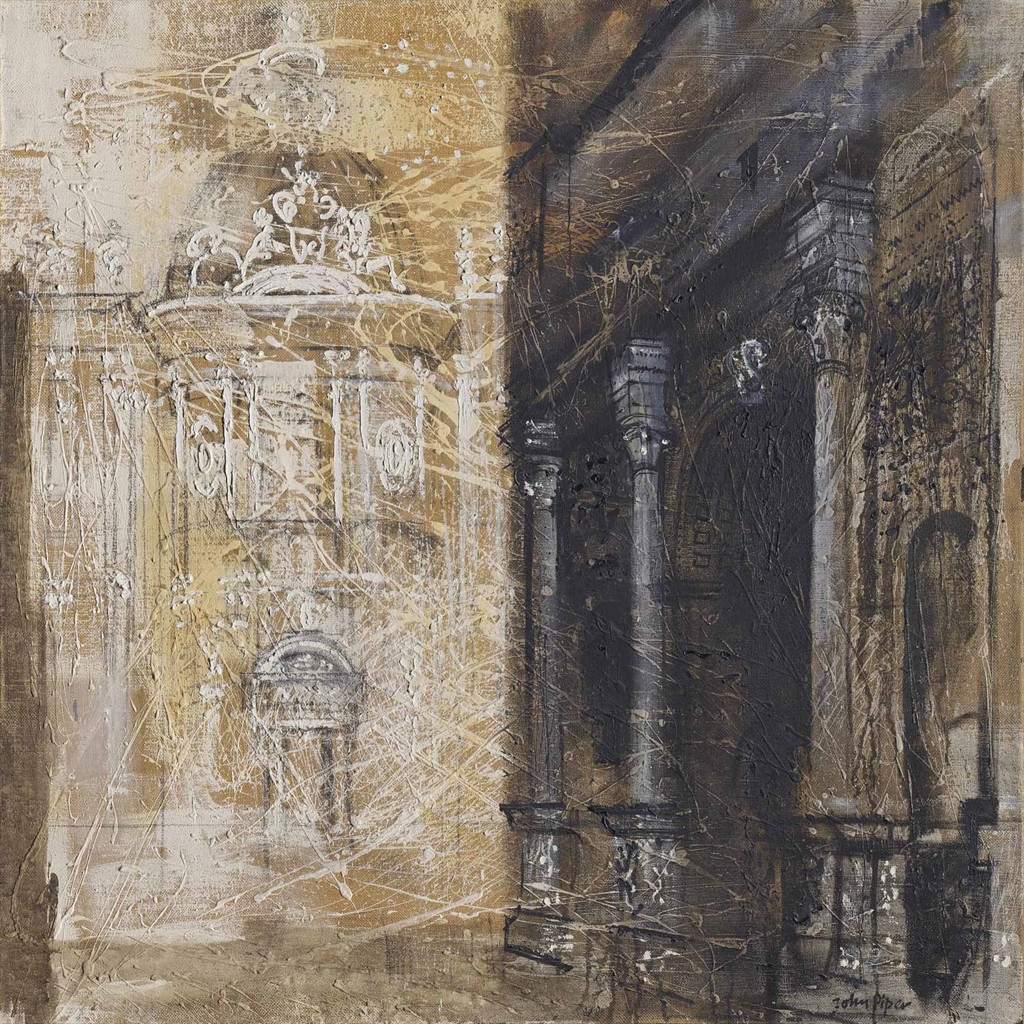 John Piper-The Arch of Septimius Severus and The Church of SS. Luca and Martina-