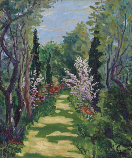 Winston Churchill-Garden Scene-1920