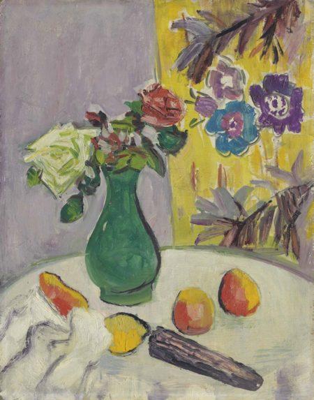 George Leslie Hunter-The Green Vase-