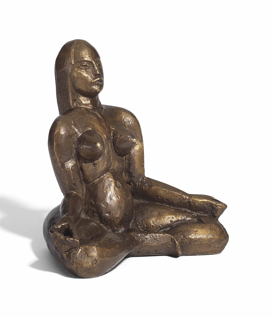 John Duncan Fergusson-Seated nude-1919