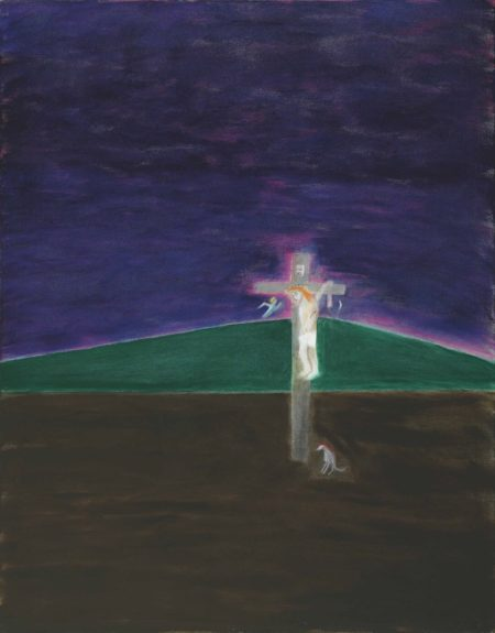 Craigie Aitchison-Crucifixion with Angel, Montecastelli-2002