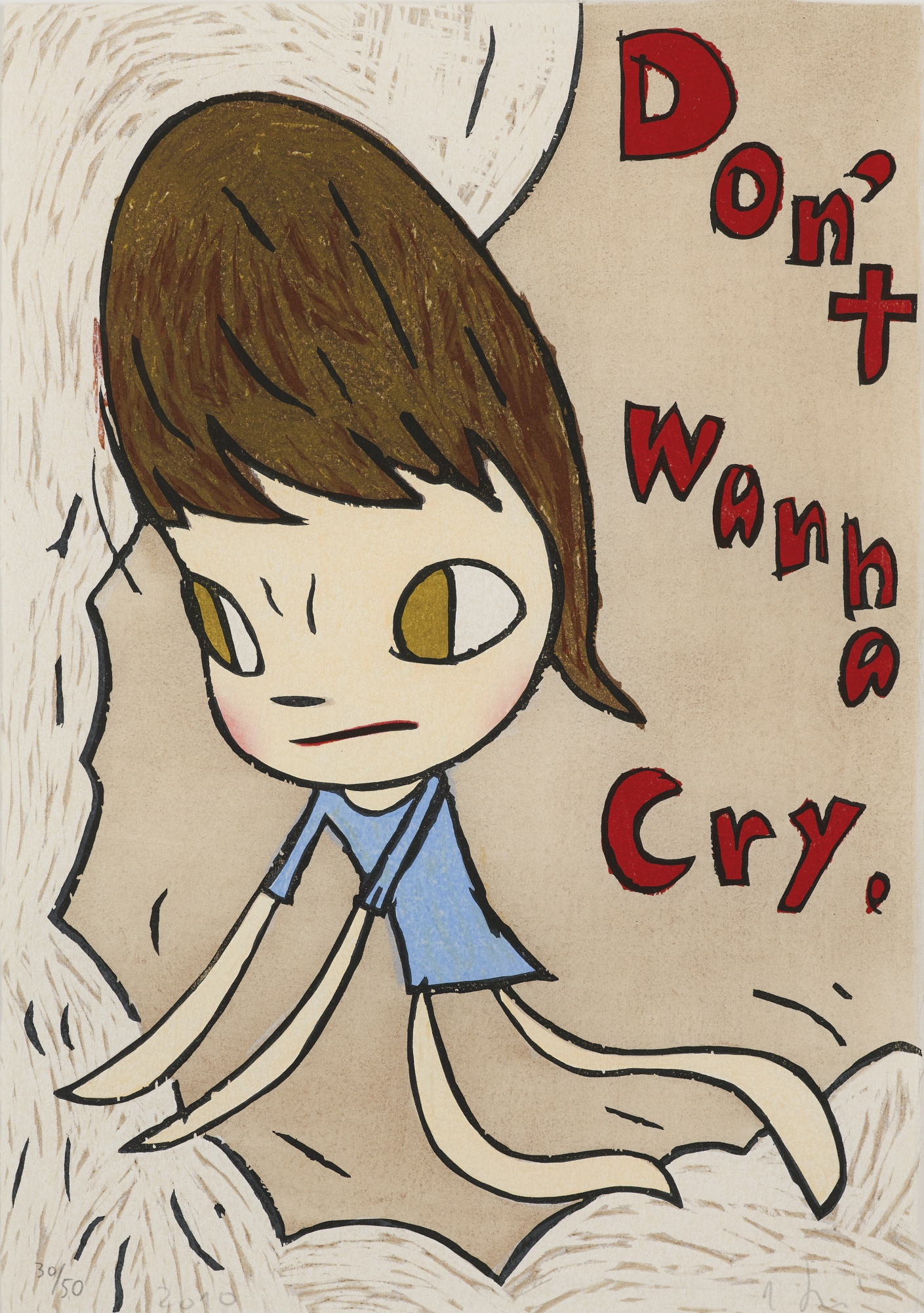 Yoshitomo Nara-Don't Wanna Cry-2010