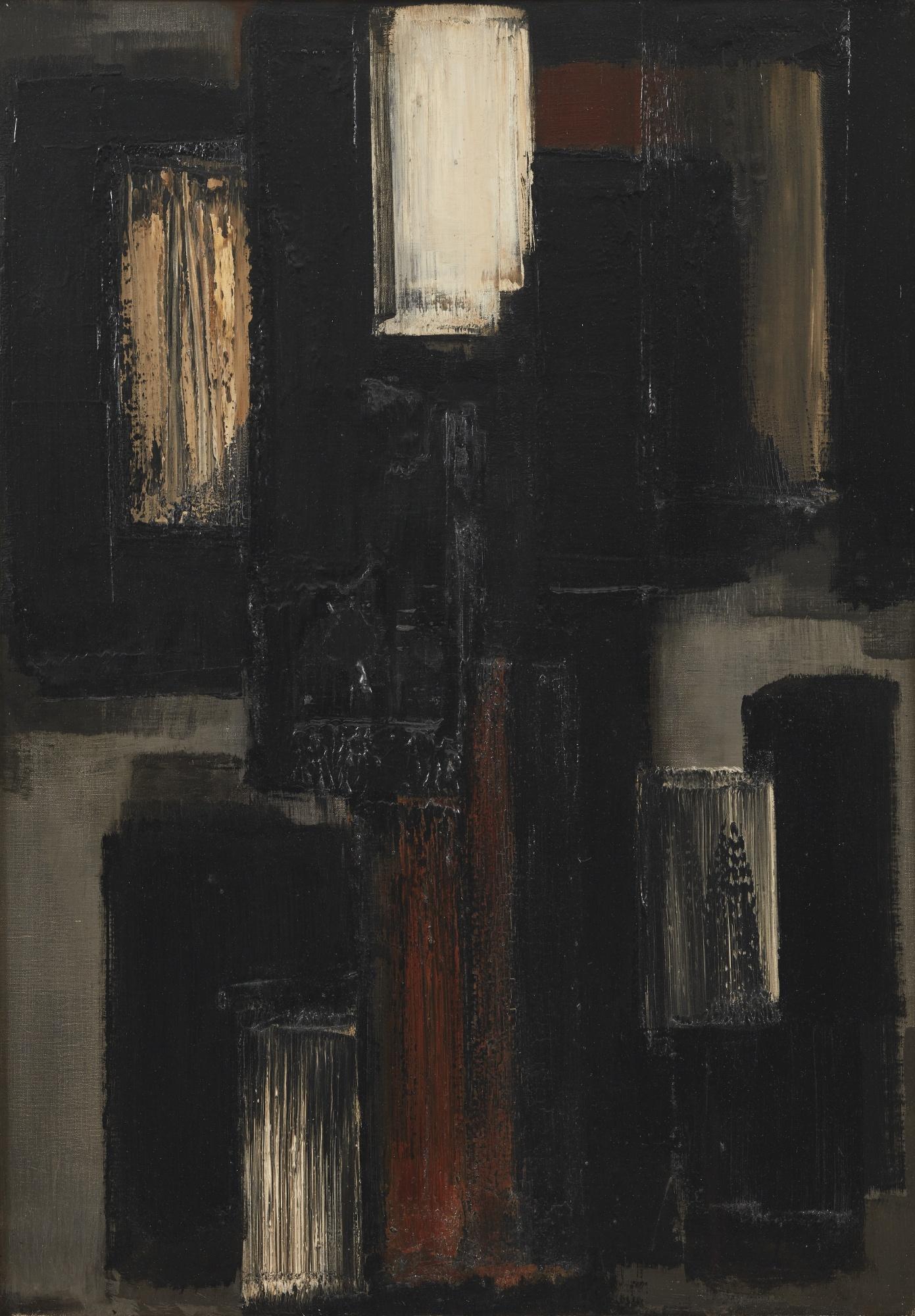 Pierre Soulages-Peinture 92 X 65 Cm, 1955-1955