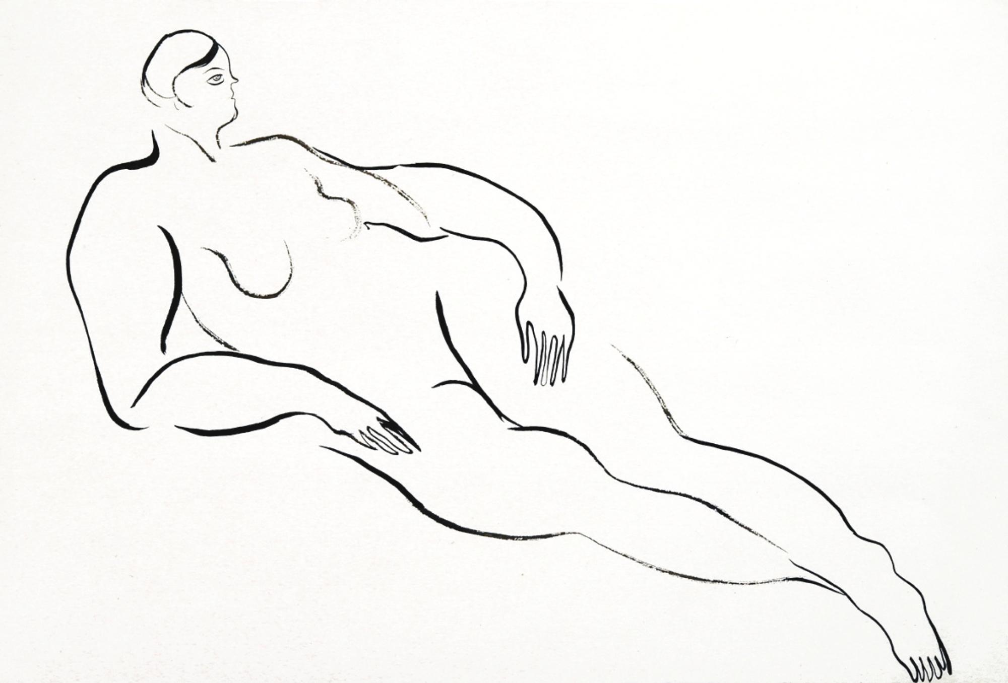 Sanyu-Reclining Nude-1920