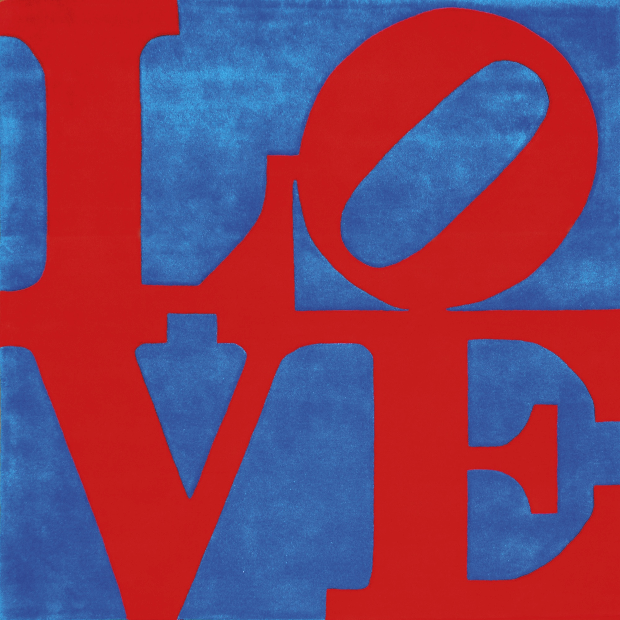 Robert Indiana-Red On Blue Love-1995