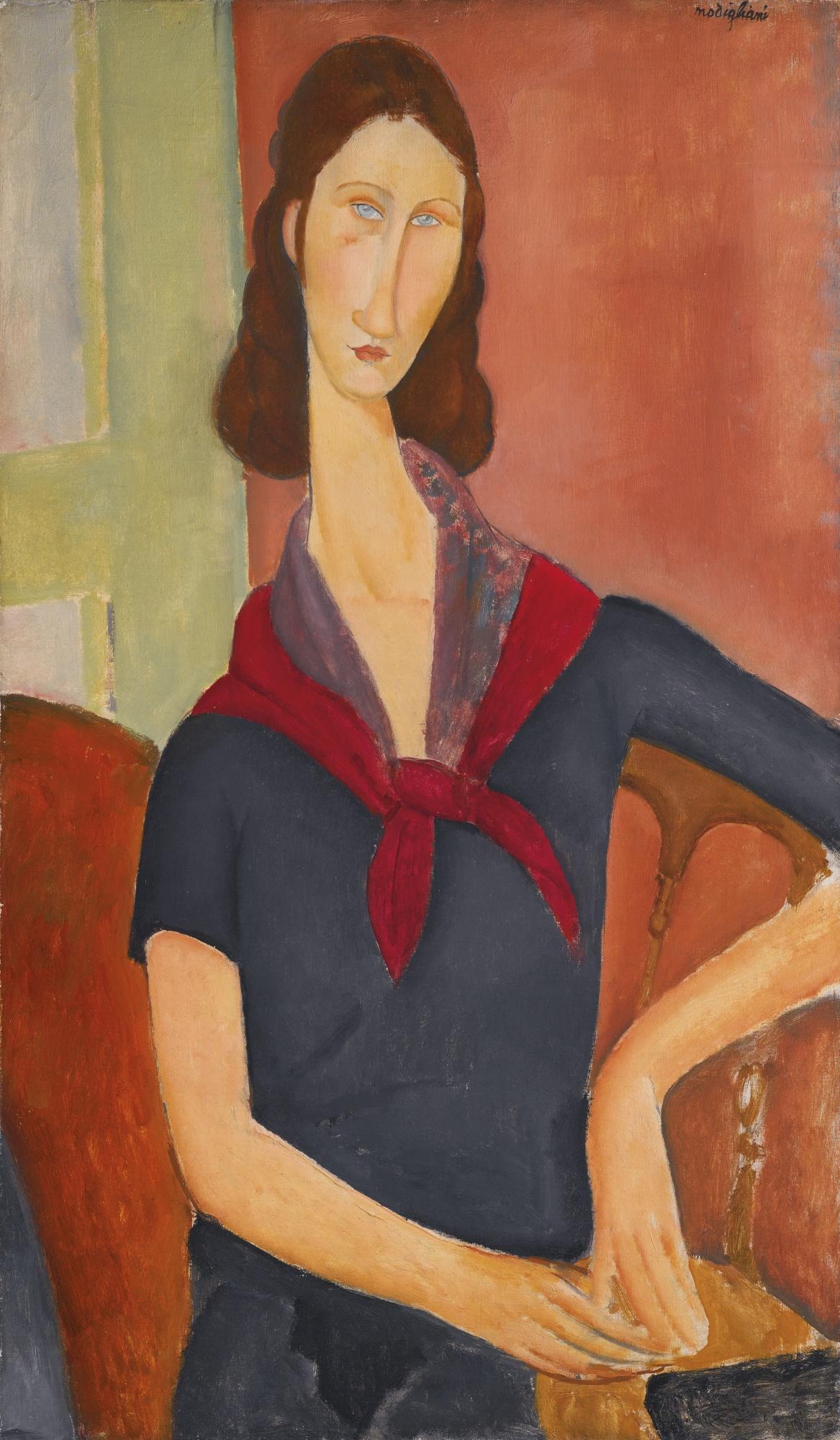 Amedeo Modigliani-Jeanne Hebuterne (Au Foulard)-1919