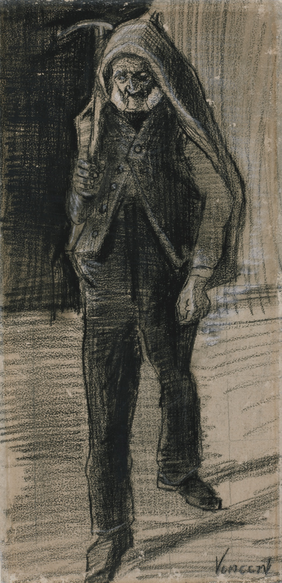 Vincent van Gogh-Man With An Axe On His Shoulder-1882