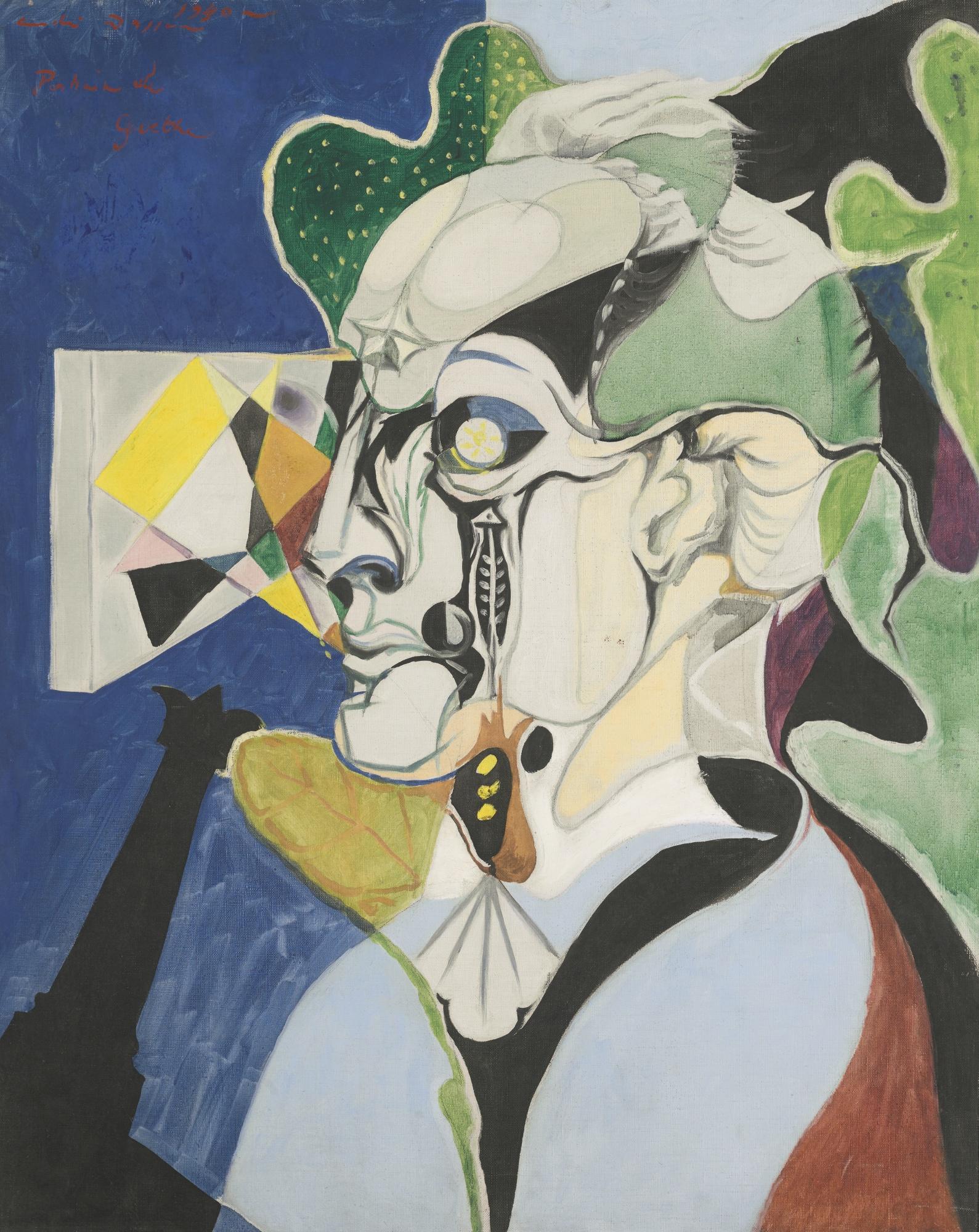 Andre Masson-Portrait De Goethe-1940