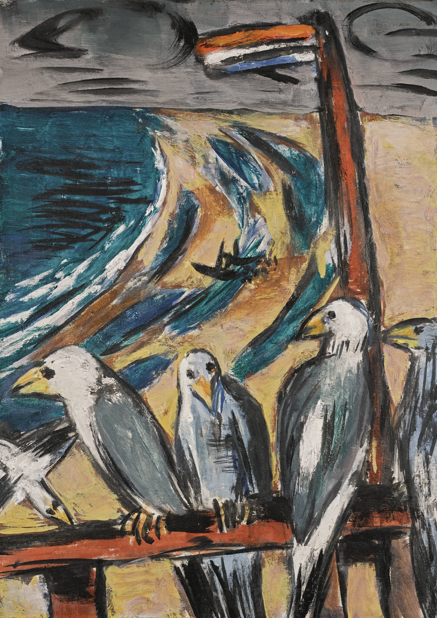 Max Beckmann-Mowen Im Sturm (Seagulls In The Storm)-1942